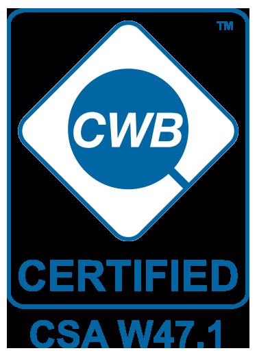 CWB Certified - CSA W47.1